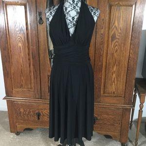 Jones New York Black A-Line Halter Dress